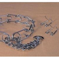 Hamilton Pet Company-Chain Prong Training Collar Chrome Hamilton Strlng- Silver 3.2mm/medium