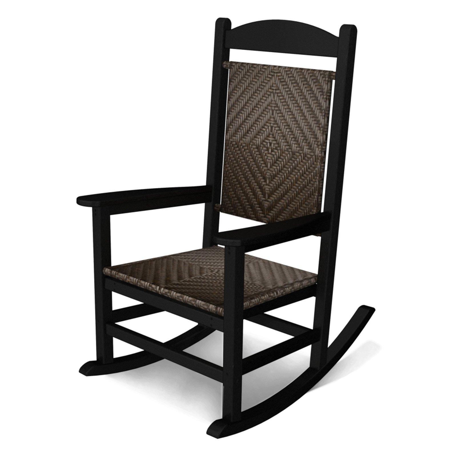 POLYWOOD® Presidential Recycled Plastic Woven Rocker