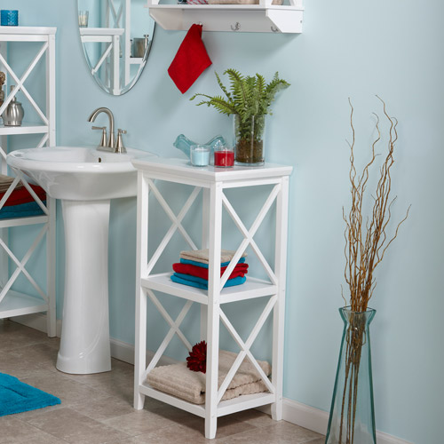 RiverRidge X-Frame 3-Shelf Storage Tower, White