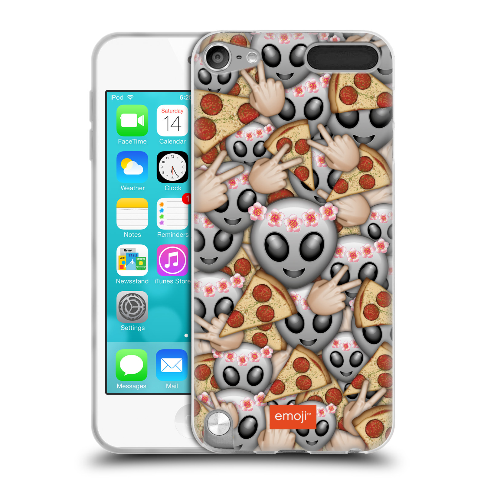 OFFICIAL EMOJI FULL PATTERNS SOFT GEL CASE FOR APPLE IPOD TOUCH MP3