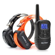 Petrainer PET998DB2 330 Yards Rechargeable and Waterproof Dog Training Collar for 2 dogs with Safe Beep,Vibration and Shock Electric Dog Shock Collar