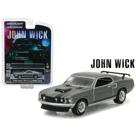 1969 Ford Mustang Boss 429 John Wick Movie (2014) Hollywood Series 18 1/64 Diecast Model Car by Greenlight