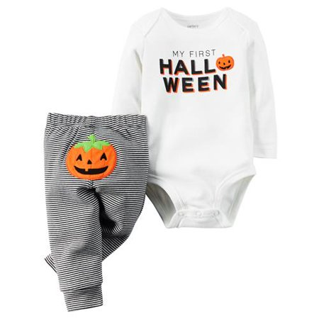 Carters Unisex 3-18 Months First Halloween Pant Set (White 18 - Carters Halloween Canada