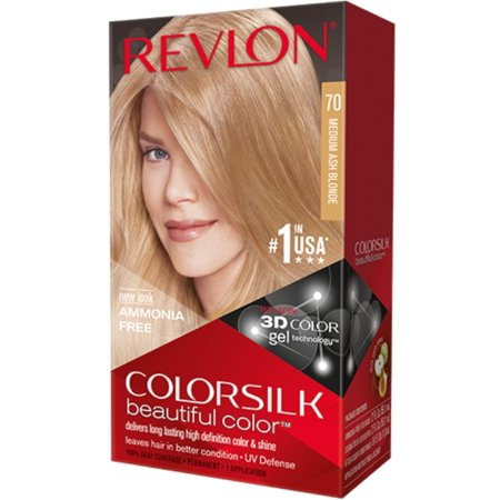 6 Pack - Revlon ColorSilk Hair Color 70 Medium Ash Blonde 1