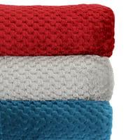 """Better Homes & Gardens Oversized Velvet Plush Throw Blanket, 50"""" x 70"""", Aqua Texture"""