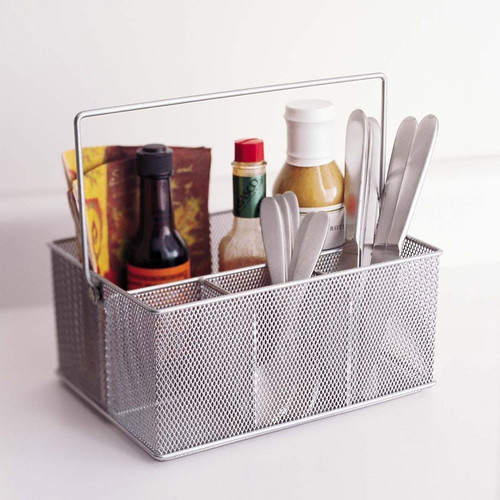 YBM Home Mesh Condiment Caddy and Napkin Holder
