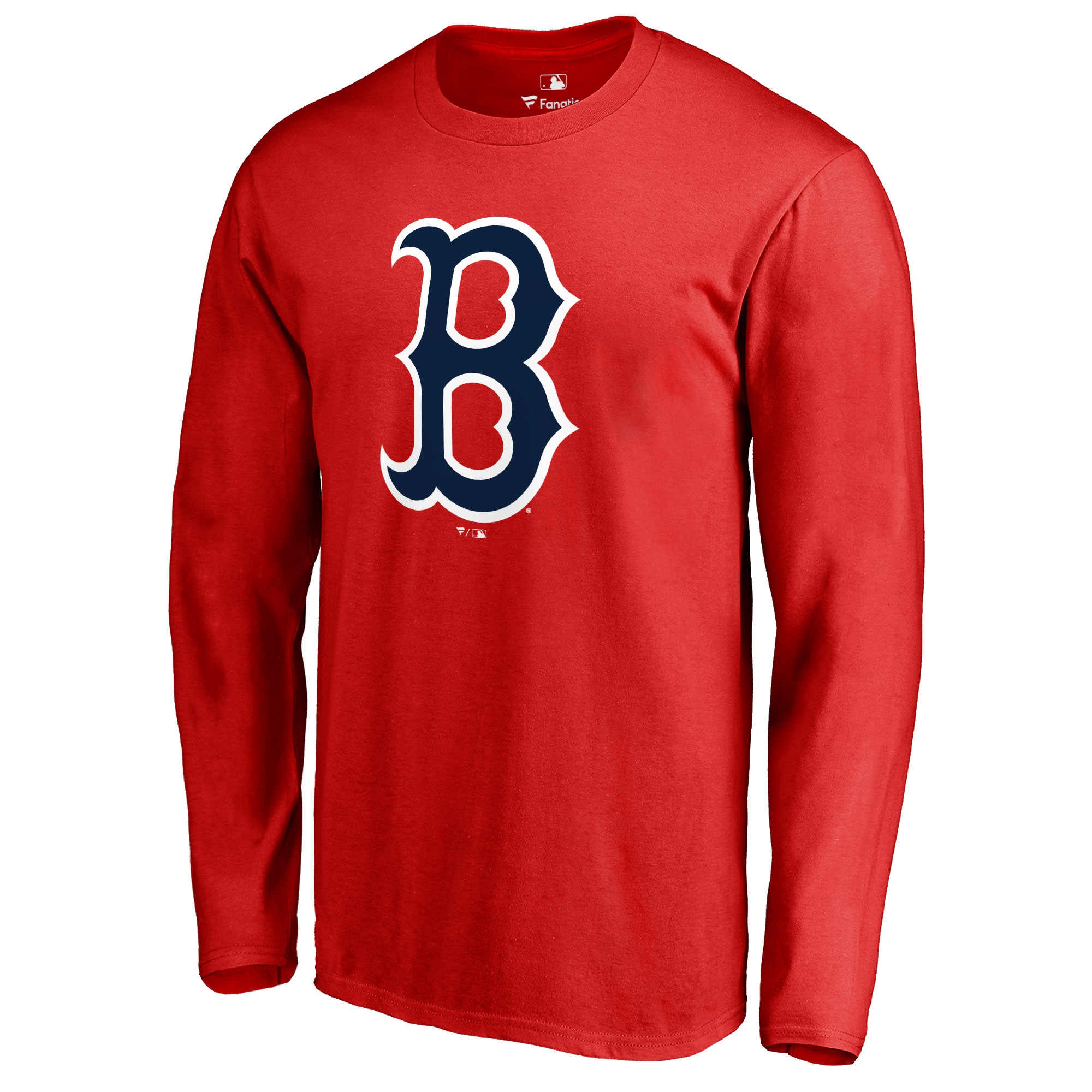Boston Red Sox Secondary Color Primary Logo Long Sleeve T-Shirt - Red