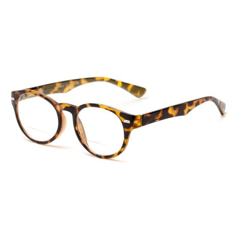 Readers.com The Ivy League Bifocal Oversized Round Bifocal Reading Glasses in Tortoise - Oversized Glasses