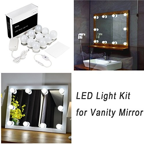 makeup mirror lighting. Hollywood Style Led Vanity Mirror Lights Kit For Makeup Dressing Table Set Mirrors With Dimmer Lighting