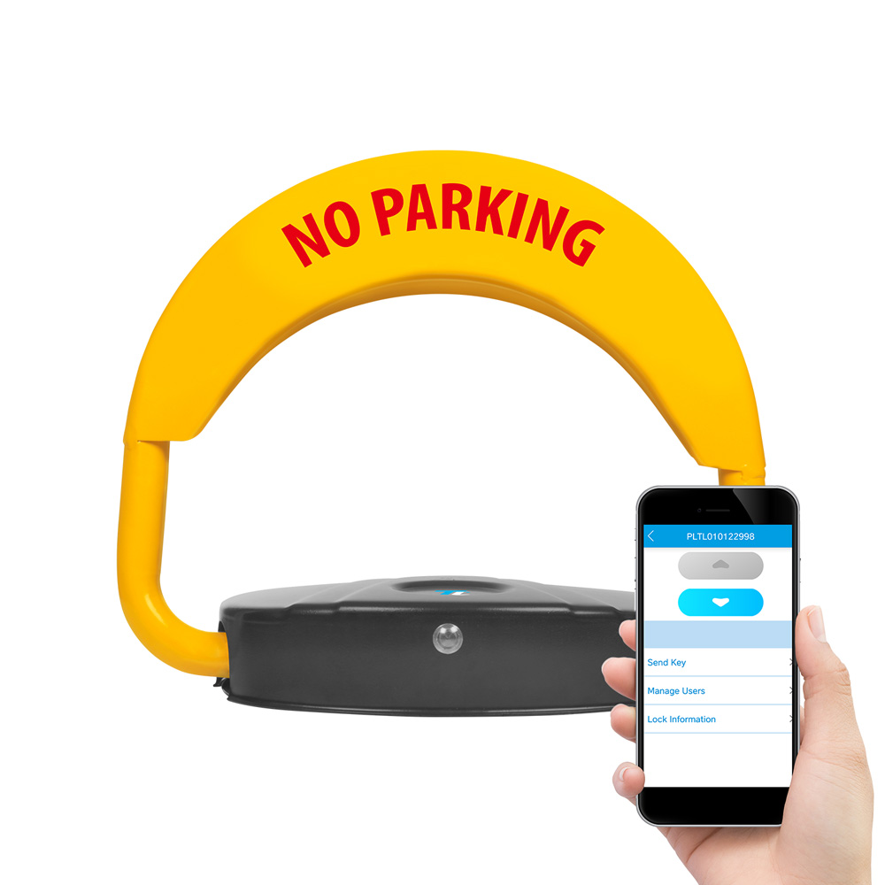 Solid Steel TurboLock Bluetooth® TL-500PR Parking Lock w/ Alarm & App – Protect your Parking Space; Easy Installation