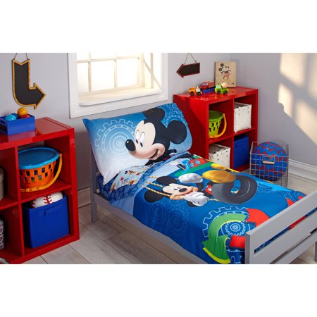 Disney Mickey Mouse Adventure Day 4 Piece Toddler Bedding