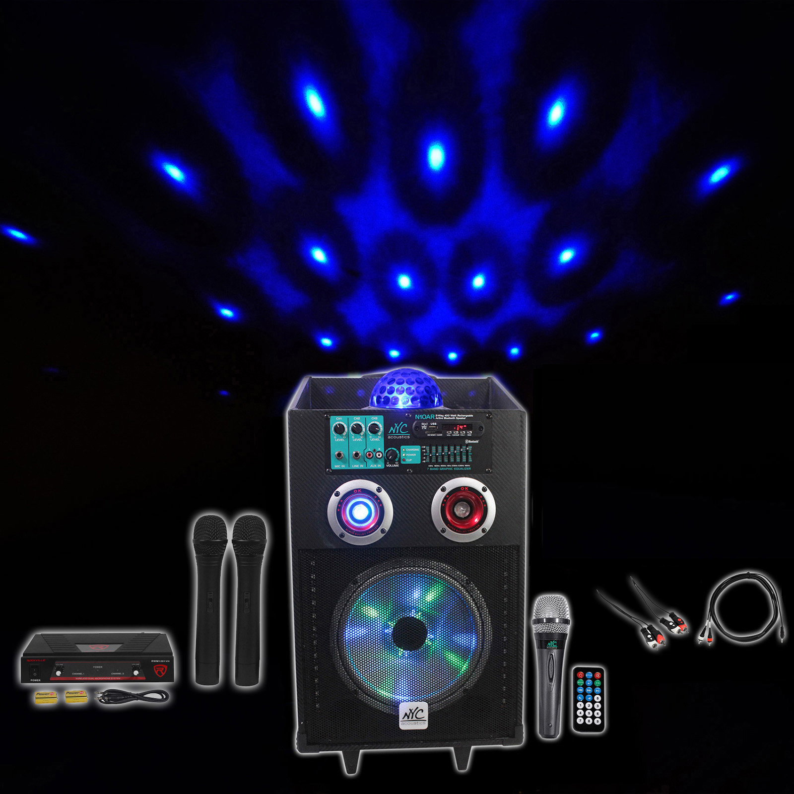"""NYC Acoustics 10"""" Bluetooth Karaoke Machine 4 ipad iphone Android Laptop TV by NYC ACOUSTICS"""