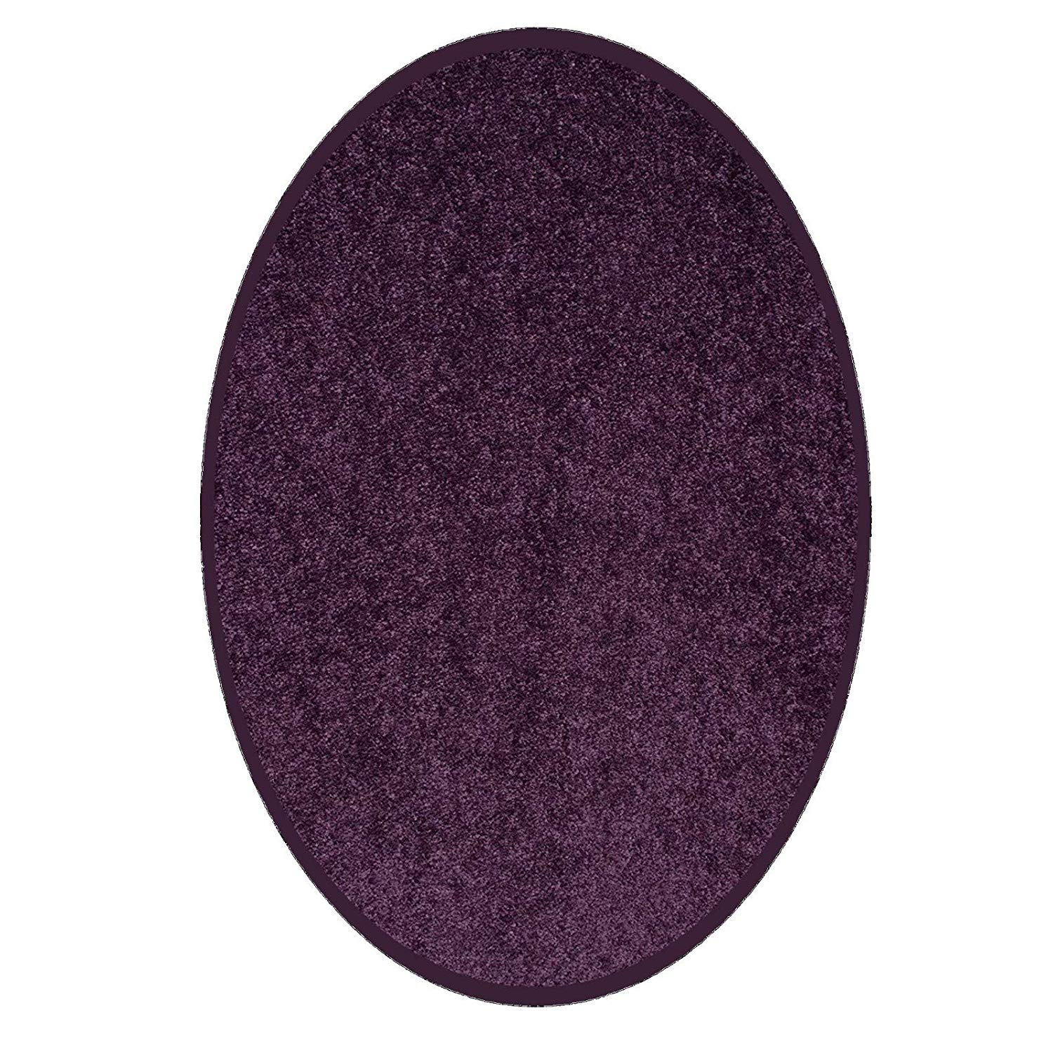 Bright House Solid Color Area Rugs Purple - 6'x9' Oval