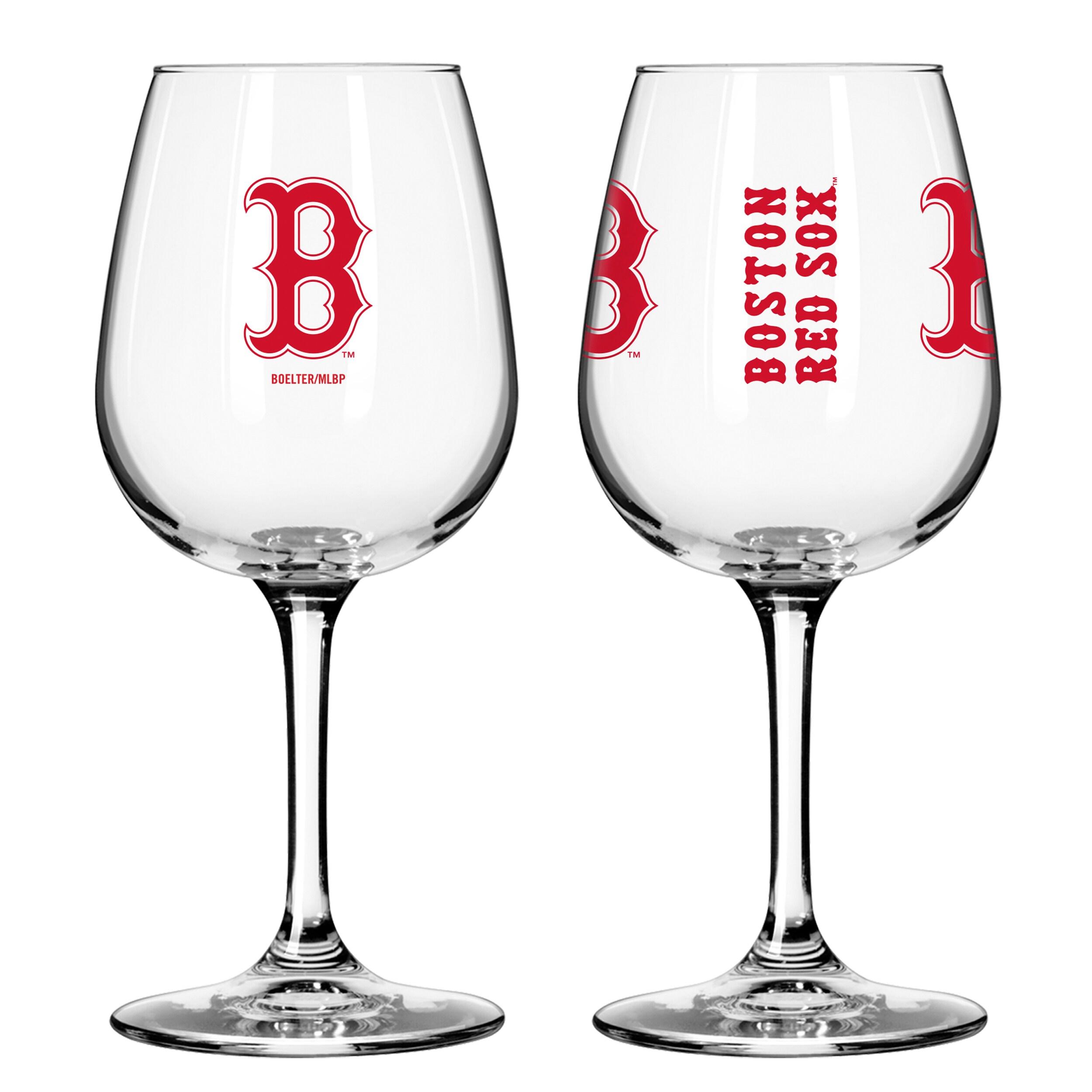 0c038cd42f46 Boelter Brands MLB Set of Two 12 Ounce Wine Glass Set, Boston Red Sox -  Walmart.com