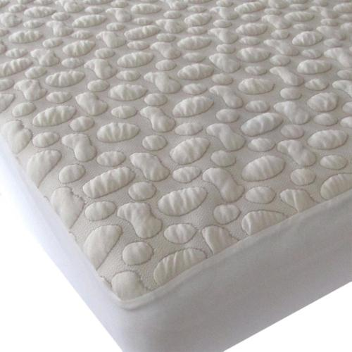 40-Winks Pebble-Puff Organic Cotton Mattress Pad Twin