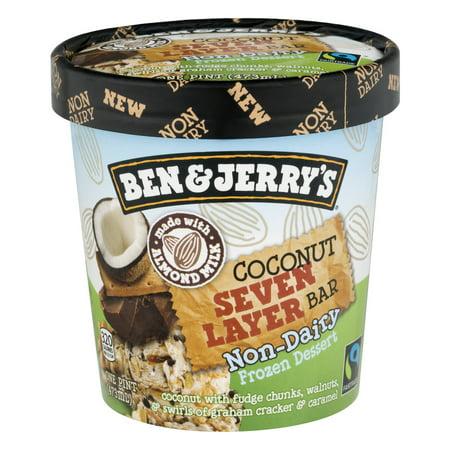 Ben & Jerrys Non Dairy Coconut 7 Layer Frozen Dessert - 16oz