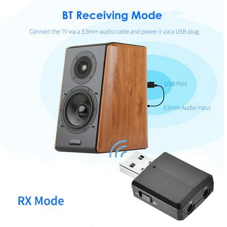 BT 5.0 Adaptateur audio sans fil Récepteur Émetteur 3,5 mm Musique AUX Voiture - image 5 of 7