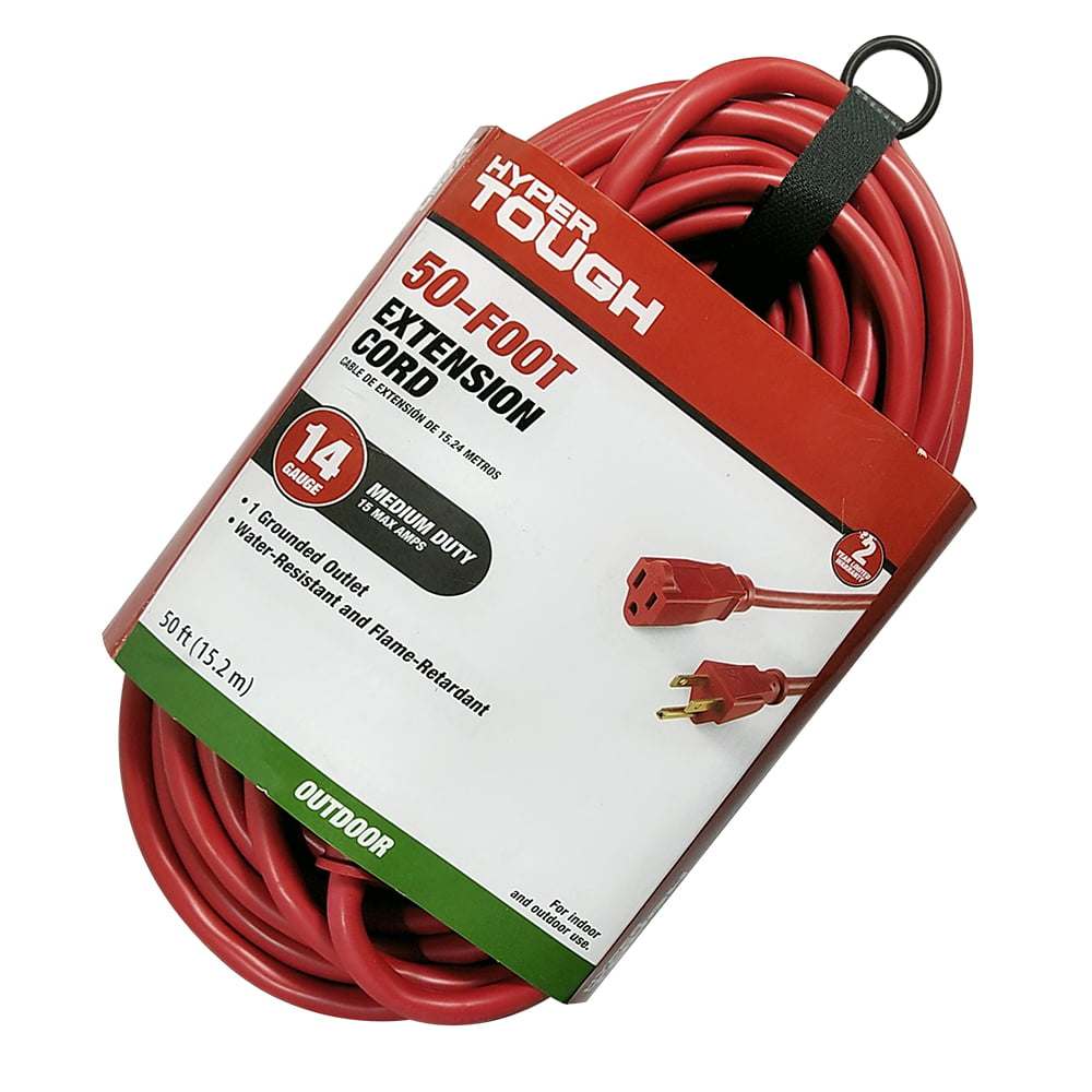 Outdoor AC Short Power Electric Cable Extension Cord 16 Gauge 3 prong 125 Volts 13 Amps 3 foot Feet Husky Mount 1,2,3,6,10,15,25,40,50,75,100 ft 3 ft Black UL Listed Indoor