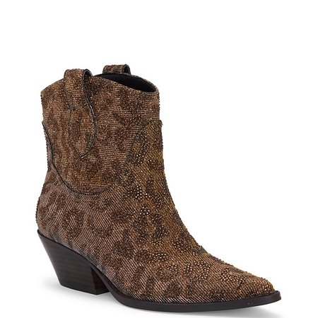 Jessica Simpson Tamira2 Fashion Boot Bronze Multi Pointed Toe Western Booties Pointed Toe Flat Boots