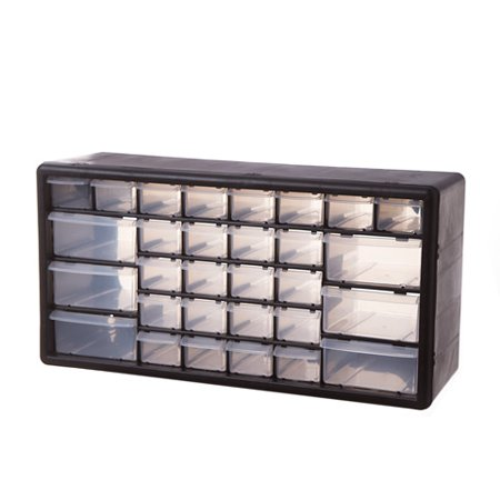 Plastic Storage Drawers: Black, 19.5 x 9.8 inches