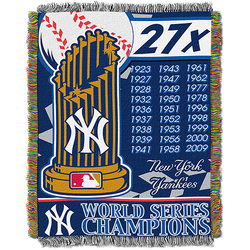 "MLB 48"" x 60"" Commemorative Series Tapestry Throw, Yankees"