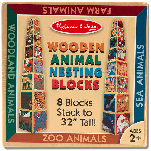 Melissa & Doug Wooden Animal Nesting Blocks 8 Blocks Stack to Almost 3 Feet Tall by Melissa %26 Doug