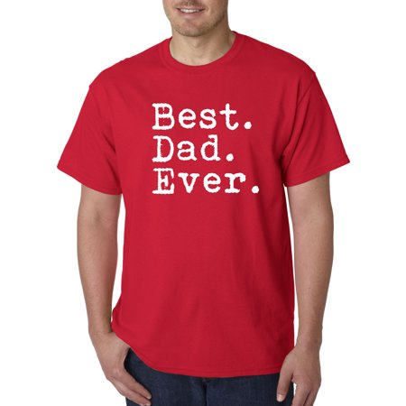 Trendy USA 1082 - Unisex T-Shirt Best Dad Ever Family Humor Small Red