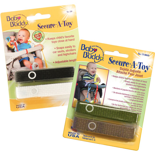 Baby Buddy Secure-A-Toy Toy Straps, 4-Count