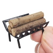 〖Follure〗1:12 Dollhouse Furniture Miniature Metal Firewood Rack Kids Pretend Play Toy