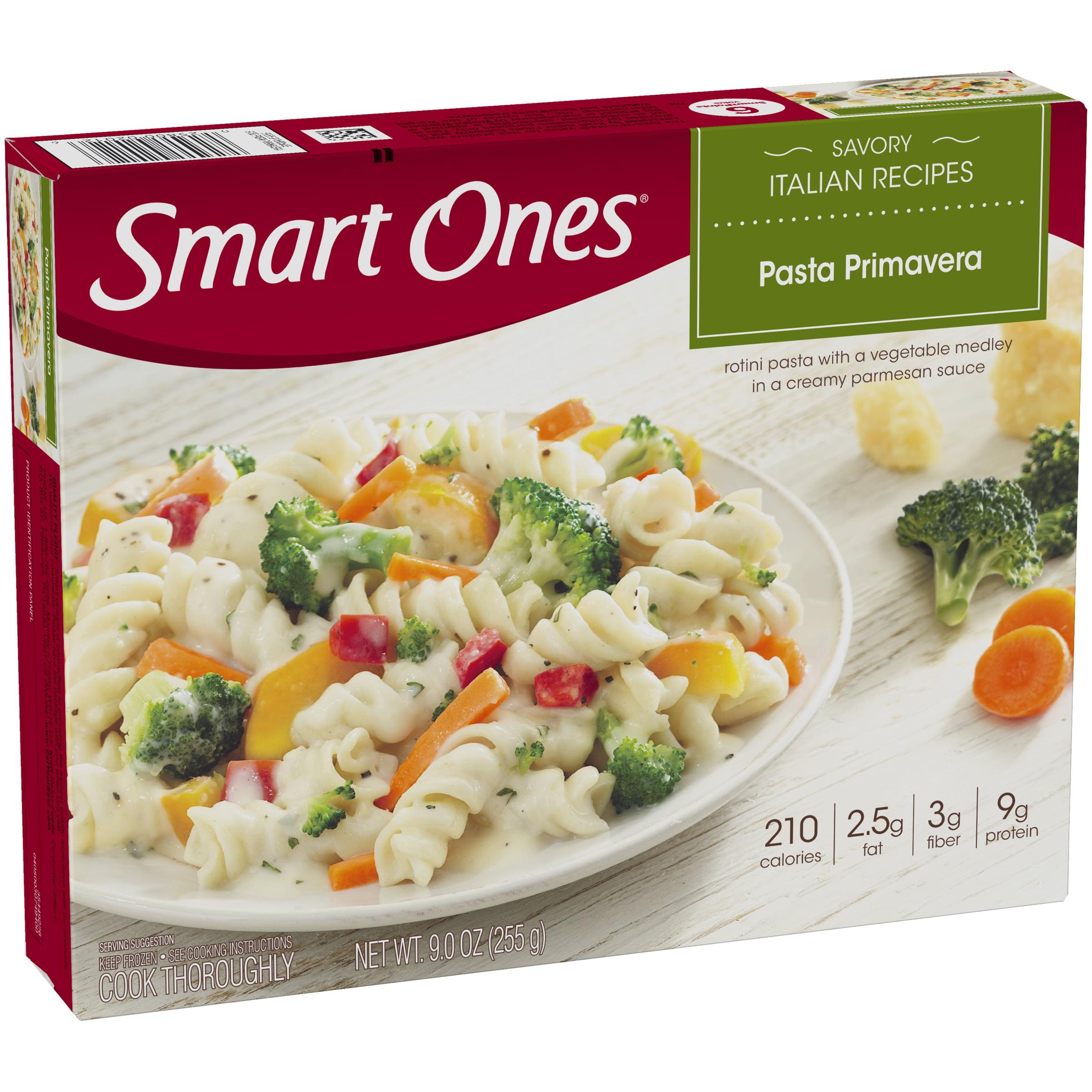 Weight Watchers Smart Ones Savory Italian Recipes Pasta Primavera 9 oz Box