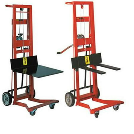 Wesco Industrial 260020 Wdpl-40-1620 Four Wheeled Winch Pedalifts In Platform And Fork Models