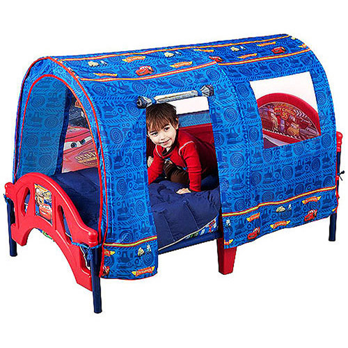 Disney Pixar Cars Toddler Bed with Tent Image 4 of 4  sc 1 st  Walmart & Disney Pixar Cars Toddler Bed with Tent - Walmart.com