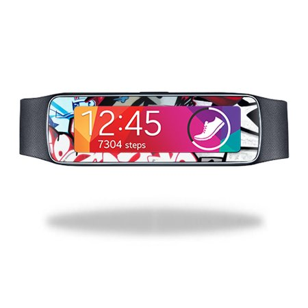 Mightyskins Protective Vinyl Skin Decal Cover for Samsung Galaxy Gear Fit wrap sticker skins Graffiti Mash Up