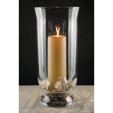 Clear Glass Hurricane Vase 16 Inch Walmart