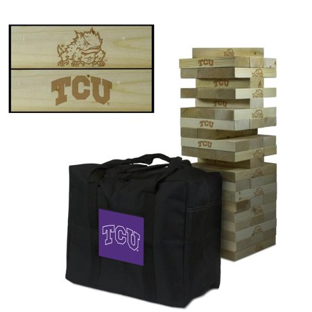 Texas Christian University Horned Frogs TCU Giant Wooden Tumble Tower Game