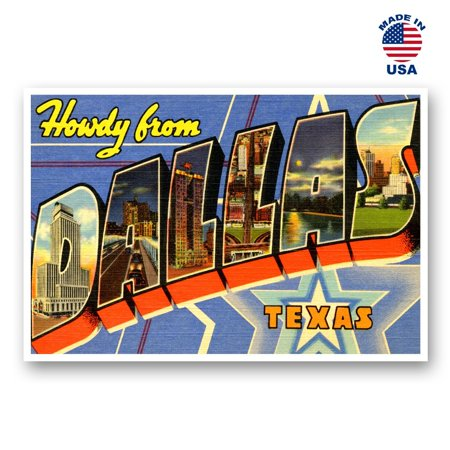 GREETINGS FROM DALLAS vintage reprint postcard set of 20 identical postcards. Large letter Dallas, Texas city and state name post card pack (ca. 1930