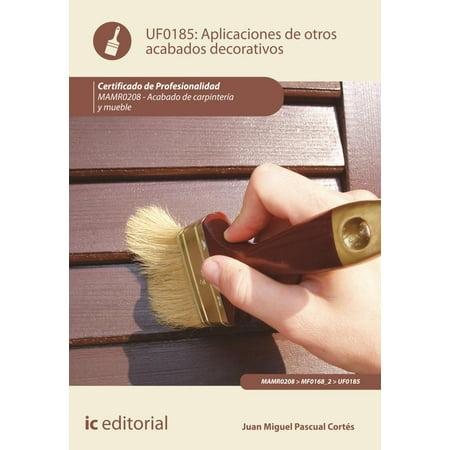 Aplicación de otros acabados decorativos - eBook