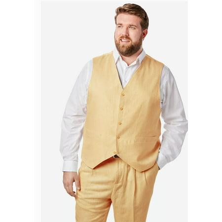 9e9ea76f68d Ks Island - Men s Big   Tall Linen Blend 5 Button Suit Vest By Ks Island -  Walmart.com
