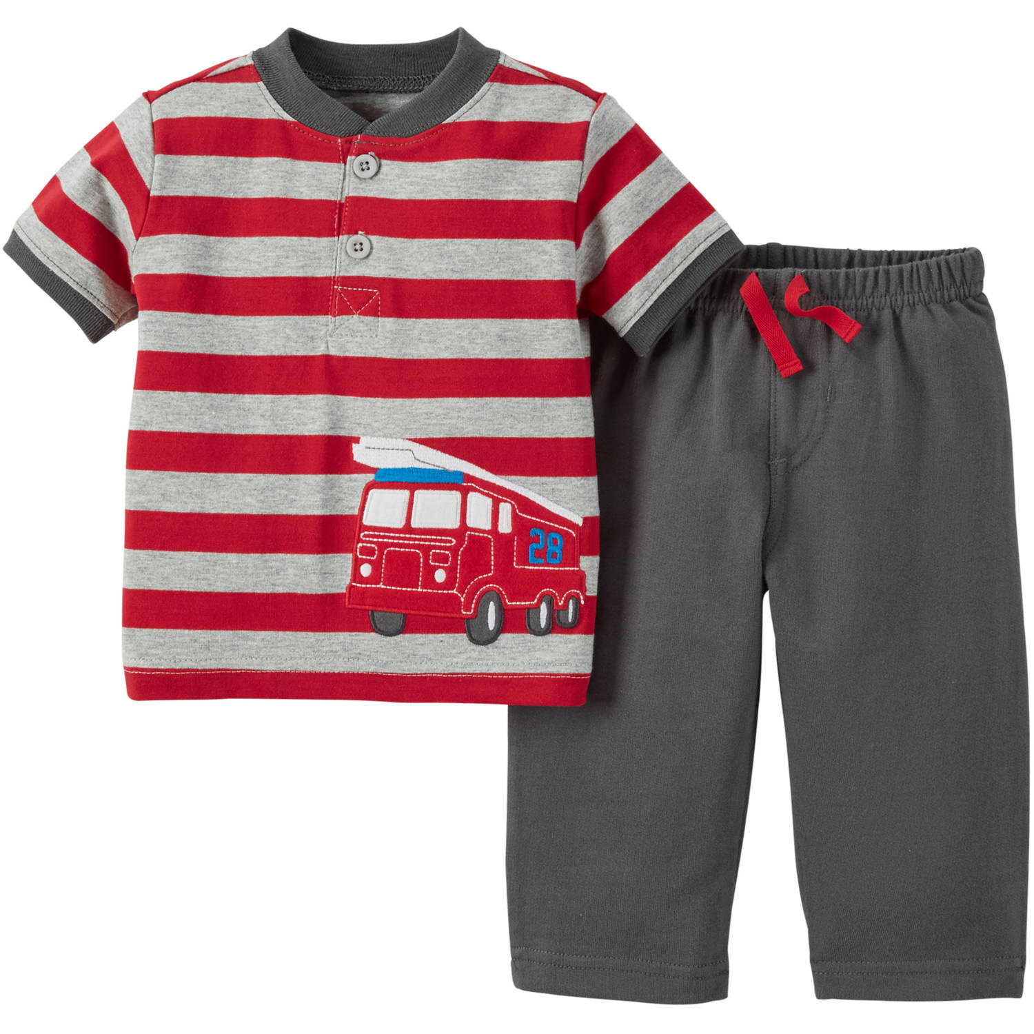 Child of Mine by Carter's Newborn Baby Boy Shirt and Pant Outfit Set 2 Pieces