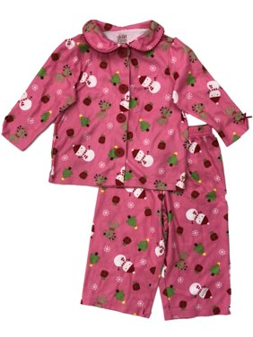 129b6d0eae Product Image Infant   Toddler Girls Holiday Sleepwear Set Pink Flannel  Snowman Pajamas. Carter s
