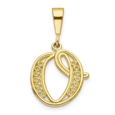 10K Yellow Gold Initial O Charm - image 2 de 2