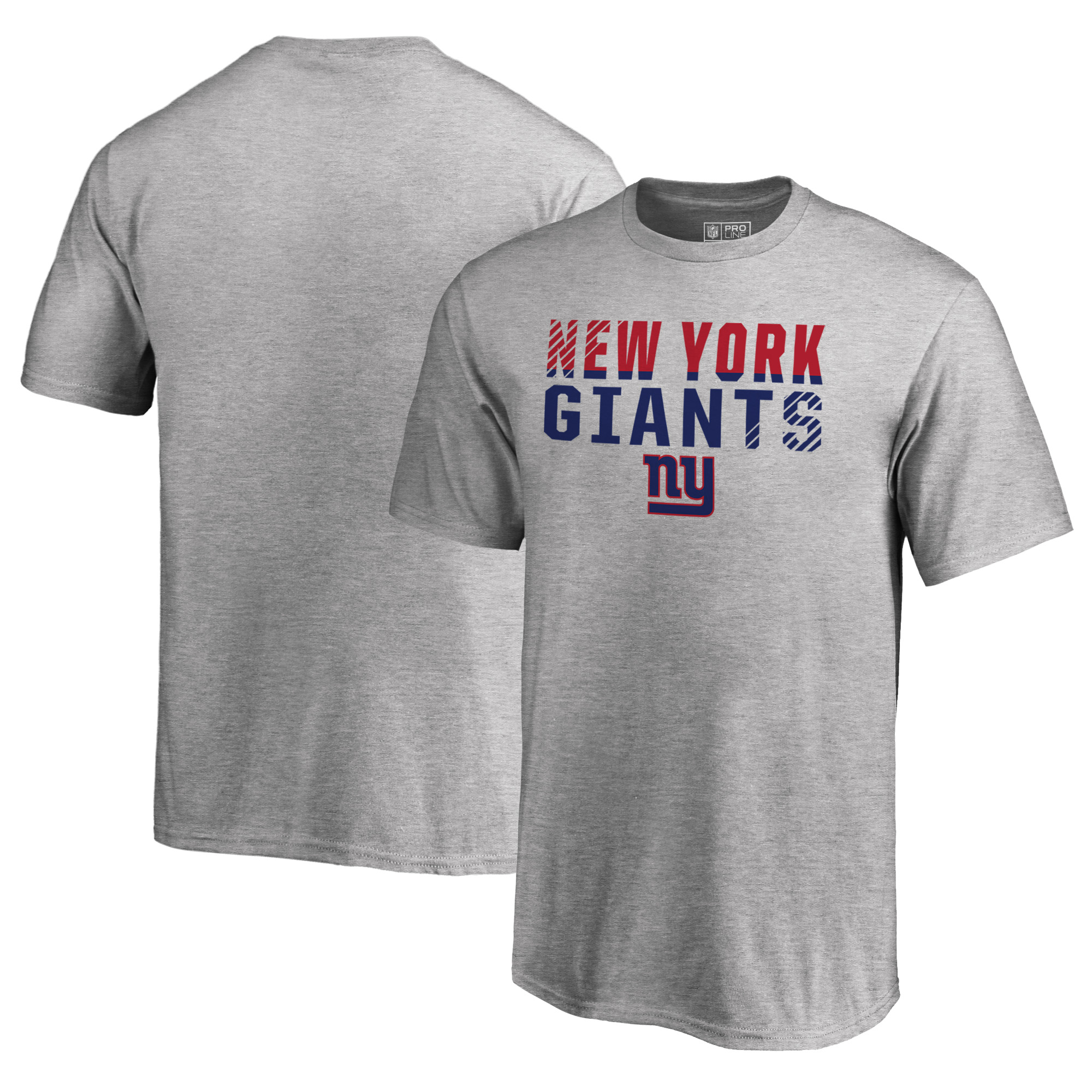 New York Giants NFL Pro Line by Fanatics Branded Youth Iconic Collection Fade Out T-Shirt - Ash