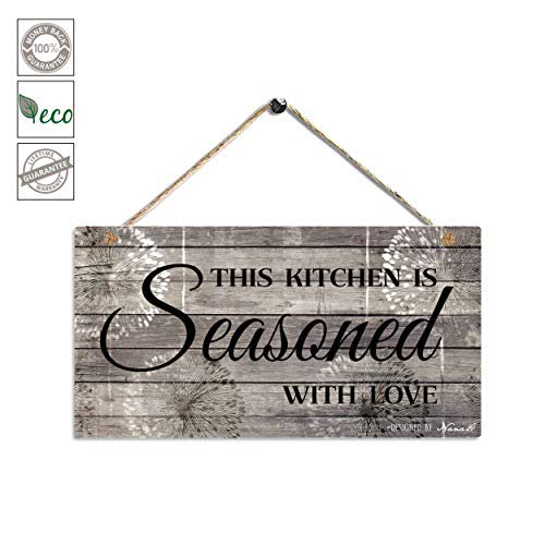 Farmhouse Kitchen Decor Rustic Kitchen Signs Wall Decor Printed Wood Wall Art This Kitchen Is Seasoned With Love Kitchen Wall Decor 11 5 X 6 Grey Black Walmart Com Walmart Com