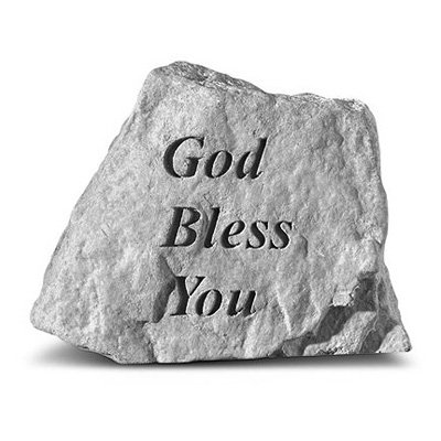 God Bless You Garden Accent Stone by Kay Berry