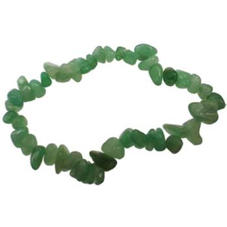 Aventurine Stone Chip Bracelet (Womens Jewelry Bracelet Green Aventurine Gemstone Chip Heart Chakra Create Well Being Emotional Calm)