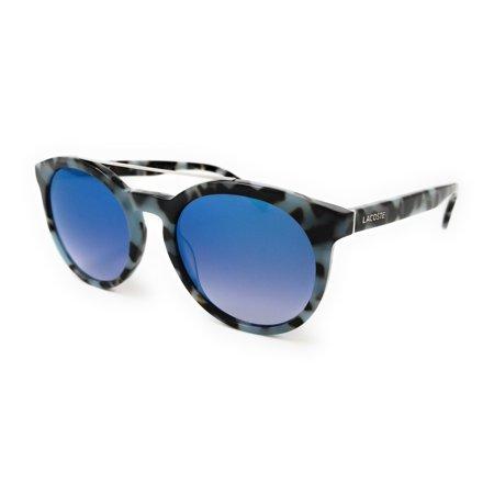 3a503ff56a93 Lacoste - LACOSTE Sunglasses L821S 215 Azure Havana Oval Unisex 52x20x145 -  Walmart.com