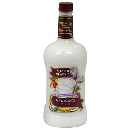 (6 Bottles) Master of Mixes Pina Colada Mixer, 1.75 - Strawberry Pina Colada