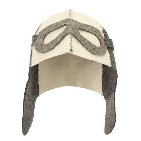 Aimeeli 100% Wool Felt Sauna Hat Anti Heat Russian Banya Cap for Bath House Head Protection (Sakura Hat)