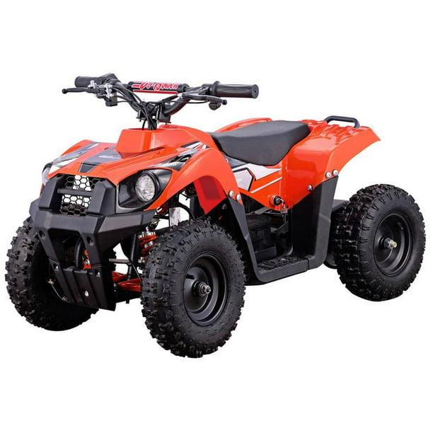 atv 36v 500w monster mototec orange battery v6 powered four wheeler walmart quad electric ride urbanscooters atvs mini