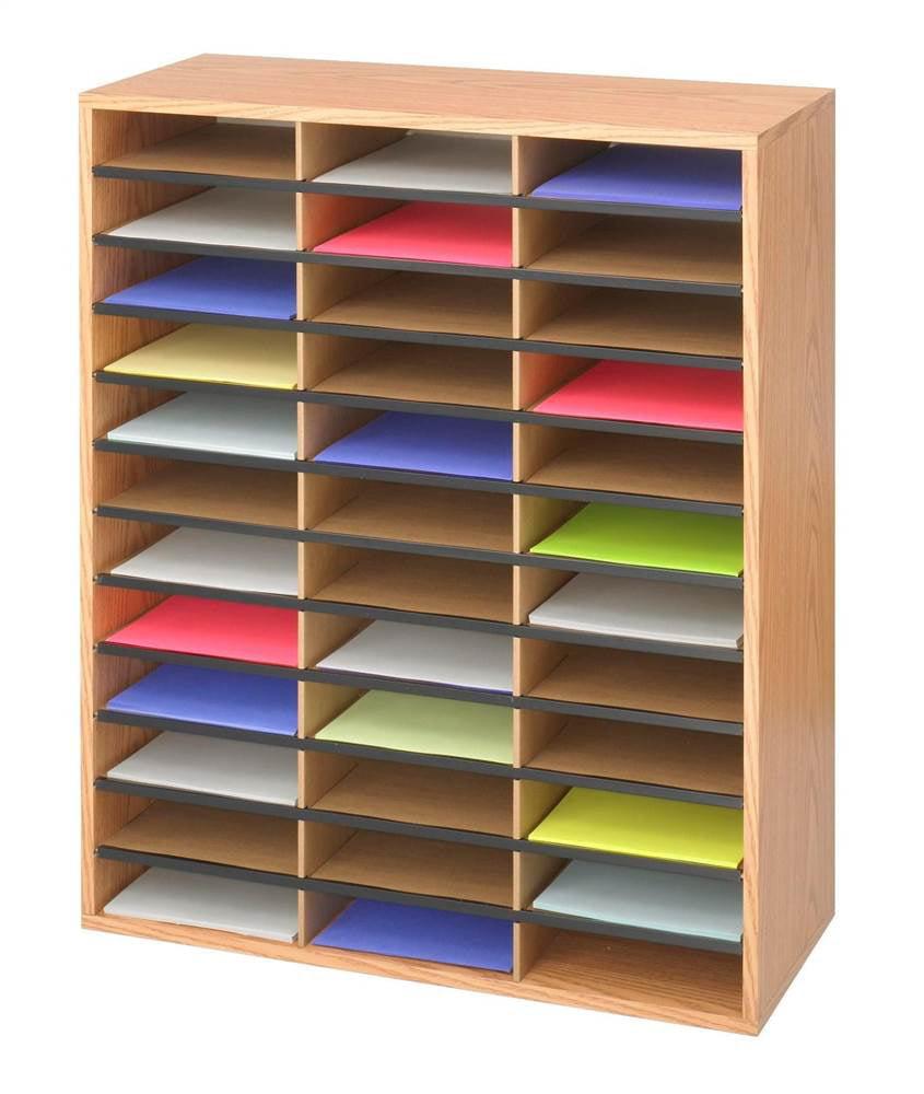 Corrugated 36 Compartment Literature Organizer by Safco